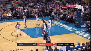 Steven Adams operates in space
