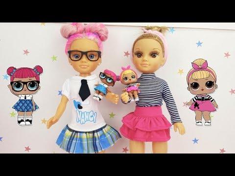 LOL Surprise DIY Maquillo y difrazo a Nancy de muñeca LOL