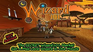 The Wizard101 Secret Market - Get A Max Level Wizard In Less Than A Minute - A Satire