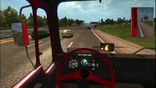 Euro truck simulator 2 Sivi kamion crvene boje