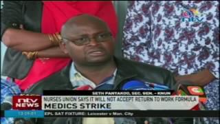 Medics strike: Nurses union says it will not accept return to work formula