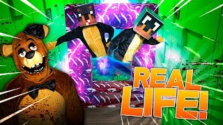 Minecraft REAL LIFE!! - DONUT THE DOG IN REAL LIFE w/BABY MAX & REAL LIFE FNAF FREDDY!!
