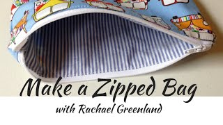 How to make a zipped and lined bag (tutorial)