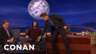 Conan Commands Chris D'Elia To Close His Legs  - CONAN on TBS