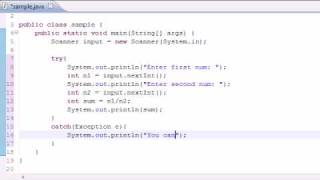 Java Programming Tutorial - 82 - Exception Handling