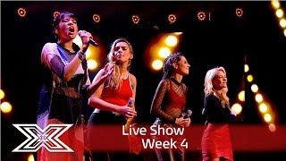 Four Of Diamonds perform A Voice Within | Results Show | The X Factor UK 2016