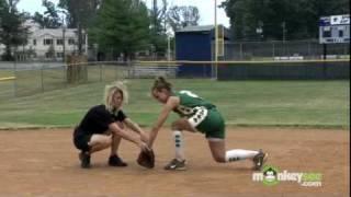 Softball Fielding Skills - The Backhand
