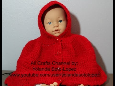 Xxx Mp4 How To Crochet Hooded Cape Inspired By Little Red Riding Hood Video 1 3gp Sex