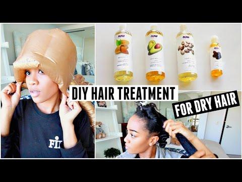 DIY Hot Oil Hair Treatment For Dry Hair