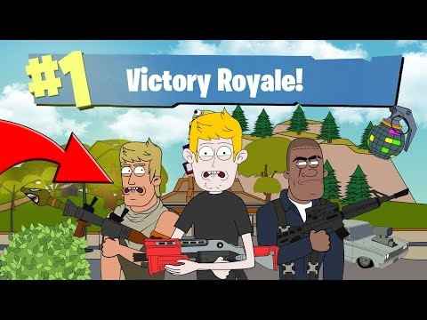 FIRST TIME PLAYING FORTNITE BATTLE ROYALE ANIMATED