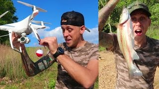 EPIC DRONE FISHING!! ( IT WORKS )