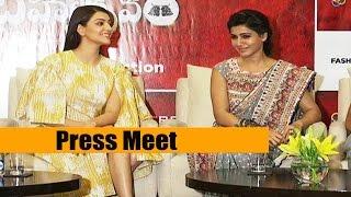 Brahmotsavam Movie Press Meet || Kajal Aggarwal || Samantha - Chai Biscuit