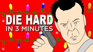 The ENTIRE story of Die Hard in 3 Minutes | Animated Christmas Movie