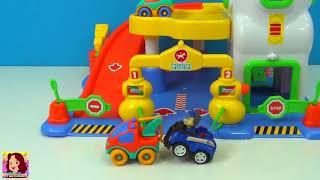 Posto de Gasolina de Brinquedo  - muito divertido com PJMasks e Patrulha Canina