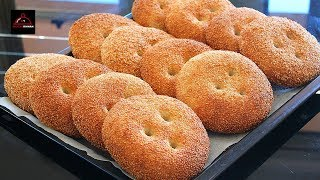 Sesame seeds Bread - Without Eggs and Oil - نان کنجدی آسان بدون روغن و تخم مرغ