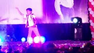 pawan kalyan's gabbar singh title song dance by kid...in S.V university tirupati