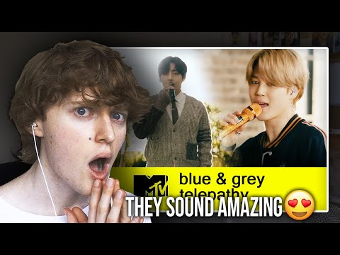 THEY SOUND AMAZING BTS Performs Blue & Grey and Telepathy MTV Unplugged Reaction Review