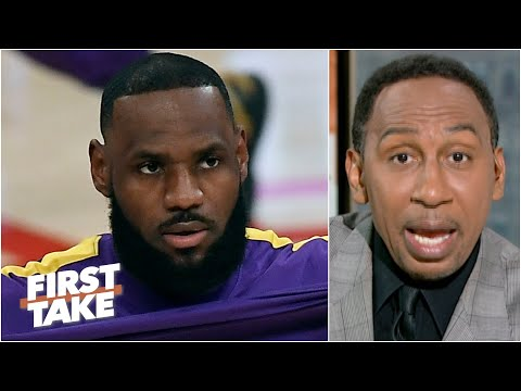 Stephen A. reacts to LeBron criticizing the NBA play in tournament First Take