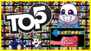 Top 5 WORST & BEST Episodes of Cartoon Fight Club! Cartoon Fight Club's 2 Year Anniversary