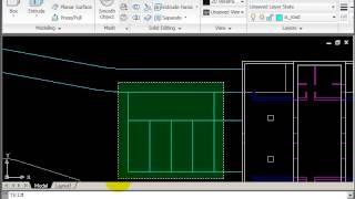 AutoCAD 2D Drawing Course B - Site Plan - Part 4 - Hard Landscape Line Work