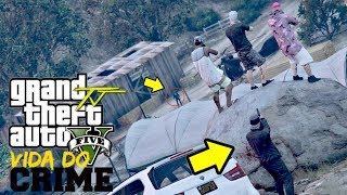 GTA V: VIDA DO CRIME | ACHAMOS O ESCONDERIJO DO CORINGA, e fomos FLAGRADOS #EP.125