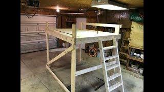 Loft Bed Build DIY, 120 Dollars, Queen Size