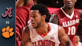 Clemson vs. Alabama Basketball Highlights (2015-16)