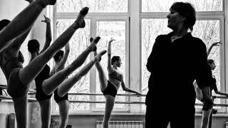 Novosibirsk choreographic college. Classic dance class. Russian ballet school.