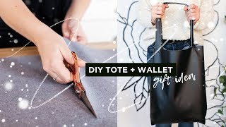 The Perfect DIY Tote & Wallet