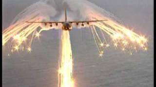 C-130 Hercules anti heat seeking missile flare test
