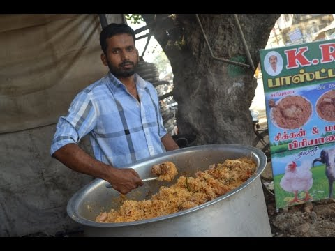 Indian Muslim CHICKEN BIRYANI Prepared for 100 People & STREET FOOD