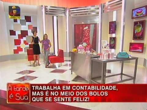 Eva Bolos Criativos Eva Lopes na TVI em A Tarde é sua com Fatima Lopes