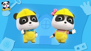 Baby Panda Architect | How to Construct a Big Building | Kids Role Play | BabyBus