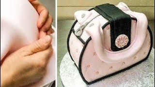 Easy Purse Cake - How To Make by Cakes StepbyStep *Decorar con Fondant