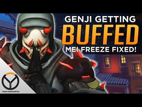 Overwatch Genji BUFF Coming Mei Freeze FIXED