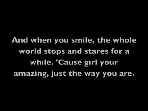 Just The Way You Are Bruno Mars Lyrics on Screen