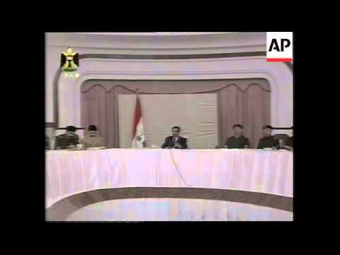 WRAP Saddam meets with army commanders, Presidential advisor on US evidence
