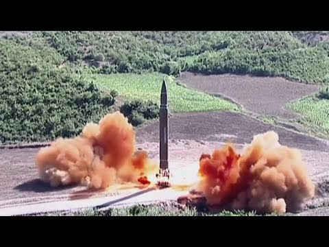 New footage shows North Korea missile launch