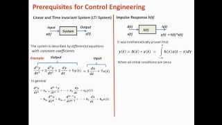 Control Engineering Tutorial 1: Prerequisite Topics (Linear and Time Invariant System)