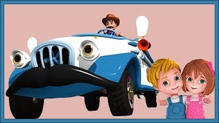 Wheels On The Bus   White Wheels On The Bus   Cartoon Videos For Toddlers