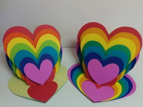 Xxx Mp4 Art And Craft How To Make Rainbow Heart Card Heart Easel Card 3gp Sex