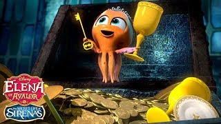 The Secret Life of Sirenas: One-Octopus Band 🐙 | Elena of Avalor | Disney Junior