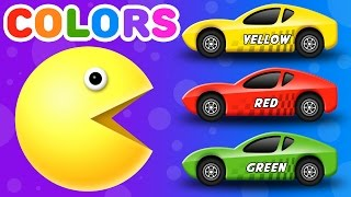Learn Colors for Children  with Packman Cartoon | Colours for Kids to Learn