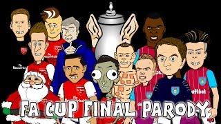 ☕️FA CUP FINAL 2015 RAP BATTLE☕️ Arsenal vs Aston Villa 4-0 parody (highlights)