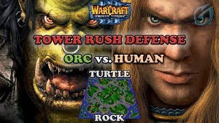 Grubby | Warcraft 3 The Frozen Throne | Orc v HU - Tower Rush Defense - Turtle Rock