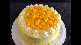 Mango Cake Recipe - How To Make Mango Cake by (HUMA IN THE KITCHEN)