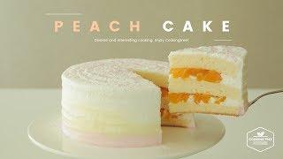 🍑사랑스러운🍑 복숭아 케이크 만들기 : Peach cake Recipe - Cooking tree 쿠킹트리