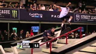 Nyjah Huston BS 270 Flip Lipslide -- Pro Open 2014