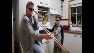 What happens when mom is not home Trumpet song dad and son  REMIX