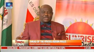Rivers Rerun Polls: There Is An Agenda Against Rivers State -- Governor Wike Pt 2